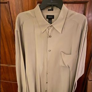 Men's Long Sleeve Silk Shirt